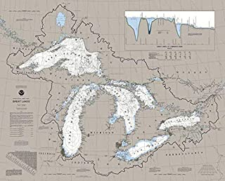 Heritage Great Lakes Jigsaw Puzzle - 1000 Pieces - Nautical Chart Map