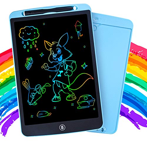 Vecolk LCD Writing Tablet 12 Inch, Colorful Doodle Board for Toddlers, Drawing Board Drawing Pad for Kids, Erasable Reusable Drawing Tablet, Educational Toys for 3 4 5 6 Year Old Boys and Girls(Blue)