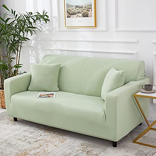 WXQY Funda de sofá elástica Azul, Funda de sofá elástica de Color sólido, Funda de sofá de Esquina, Funda de sofá de Sala de Estar con Todo Incluido A9 2 plazas