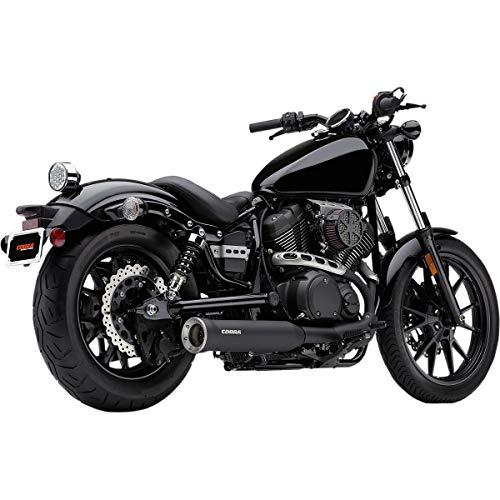 Cobra Slip-On Exhaust (Black / 4') for 14-16 Yamaha Bolt