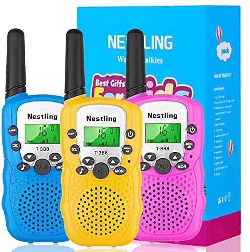 Nestling Giocattoli Bambini, 8 Canali Radio Giocattolo a 2 Vie con Torcia LCD Retroilluminata, Portata di 3 Miglia - I Migliori Regali di Compleanno di Natale per 3-12 Ragazze o Ragazzi