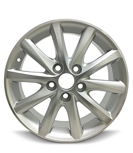 Road Ready Car Wheel For 2010-2011 Toyota Camry 16 Inch 5 Lug Silver Aluminum Rim Fits R16 Tire - Exact OEM Replacement - Full-Size Spare