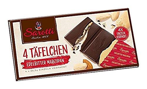 Sarotti Edelbitterschokolade Marzipan, 10er Pack (10 x 100 g)