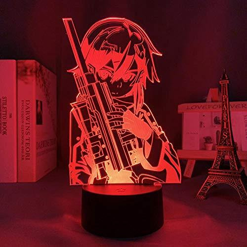 Regalo para niños Nuevo 2021 3D LED Light anime sword art online sinoren bedroom decoration night light birthday gift room LED night light game regalo para mujeres FGHNJ