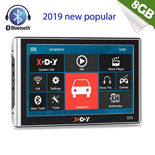 Navigazione GPS per auto moto Xgody 17,8 cm touch screen navigatore satellitare con 50,8 cm cavi telecamera di retromarcia sostegno Speed camera