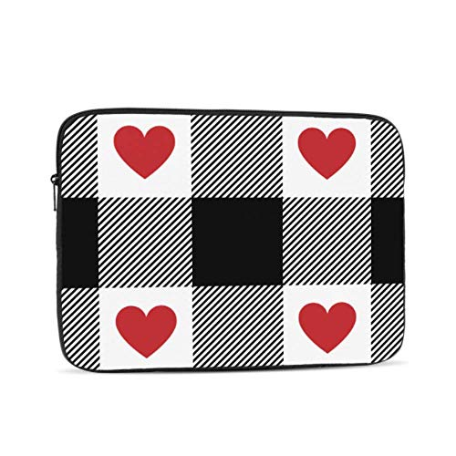 MacBook Laptop Cover Black Buffalo Check Plaid Gingham MacBook Air Laptop Case Multi-Color & Size Choices 10/12/13/15/17 Inch Computer Tablet Briefcase Carrying Bag