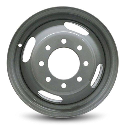 Road Ready Car Wheel For 2003-2015 Chevrolet Express 3500 GMC Savana 3500 2001-2007 Chevrolet Silverado 3500 GMC Sierra 3500 16 Inch 8 Lug Gray Steel Rim Fits R16 Tire - Exact OEM Replacement - DRW