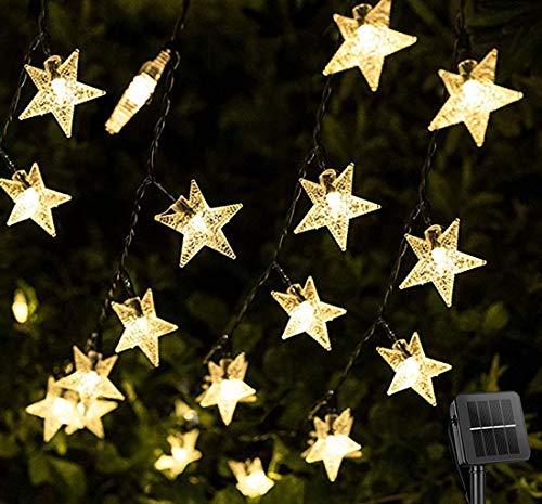 Darknessbreak Solar String Lights Star Lights,35ft 50 LED Christmas Lights Outdoor,8 Modes Solar Lights Outdoor for Christmas Patio,Camping,Backyard,Lawn,Porch Decor.