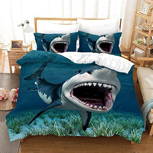 Bedclothes-Blanket Funda nórdica 3D Lila,Conjunto de colchas de impresión Digital 3D Tres Conjuntos de Almohadas con Capucha Conjunto de Dolphins Tortuga-1_260 * 220cm