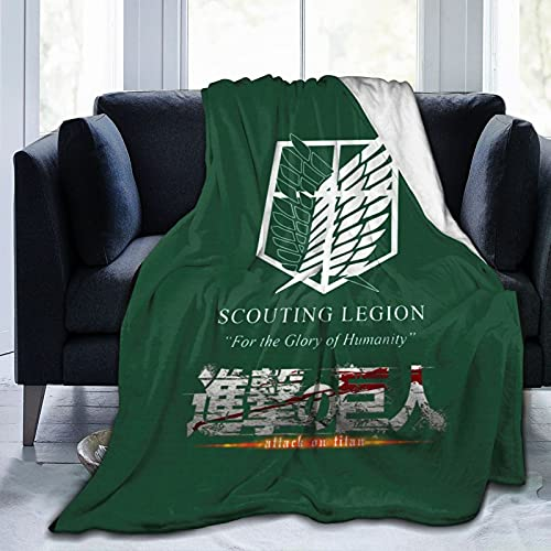 Attack On Titan Decke Scout Regiment Decken Ultra Soft Lightweight Cosy Throw Decke für Bett Sofa Couch Home Decor 50