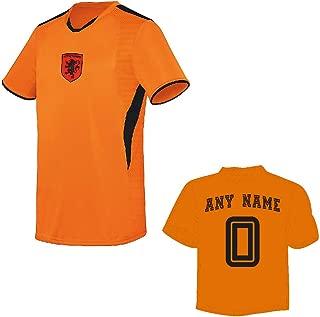 Netherlands Oranje Soccer Licensed Logo Jersey (Custom Name/Number or Blank Back)