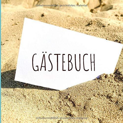 GÄSTEBUCH FERIENWOHNUNG: Gästebuch quadratisch - Ferienwohnung oder im Hotel - Ferienwohnungen -...