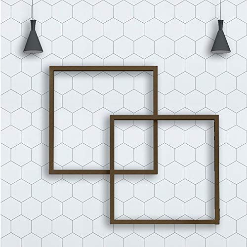 "197"" ×17.7"" Hexagon White Wallpaper Peel and Stick Wallpaper Removable Wallpaper Self Adhesive Wallpaper White and Grey Wallpaper Modern Wall Paper Decor Shelf Liner Vinyl Wallpaper Thick New Update"