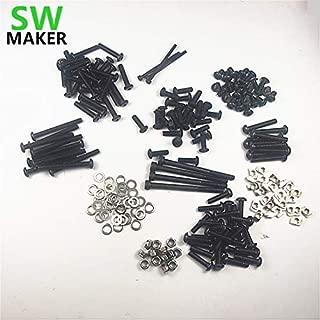 3D Printer - OX CNC milling Router Machine DIY Accessory Parts Mechanical Fasten Screw Washer nut Full Kit M5 Tee nut/Nylon Lock nut Set