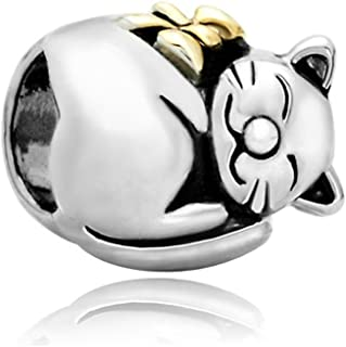 CharmSStory Cute Cat Animal Charm Beads For Bracelets