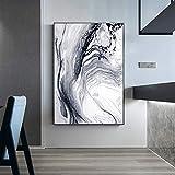XCSMWJA Cuadro sobre Lienzo Abstracto Splash Tinta Oro Lienzo Pintura Cartel Chino E Imprimir Arte Moderno De La Pared Imagen para La Decoración De La Sala De Estar 60x90cm