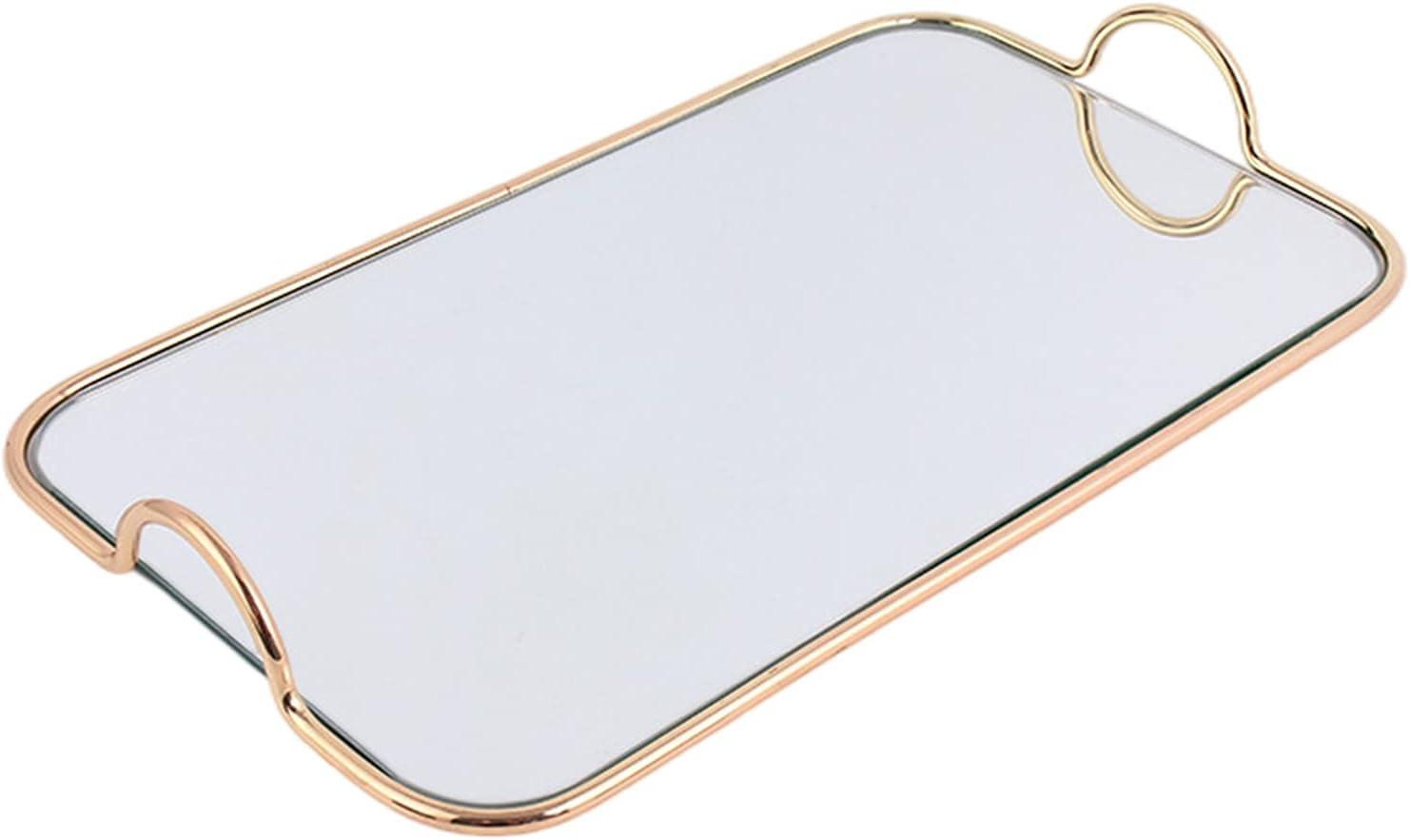 Newmind Rectangular Mirrored Tray w service Handles Makeup Max 47% OFF Jewelry Perfu