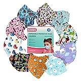 Raganet, (20 Pack) Cubrebocas KN95 Infantil, para Niños y Niñas de 3-12 años, (Multicolores y Diseños Divertidos, Empaque Individual)