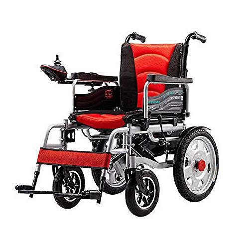 LJYT krachtige klapstoel met elektrische rolstoel, robuuste rolstoel (lithium-batterij), veilig voor vliegreizen, eenvoudig te rijden, comfortabel, geschikt voor mensen met een handicap en senioren