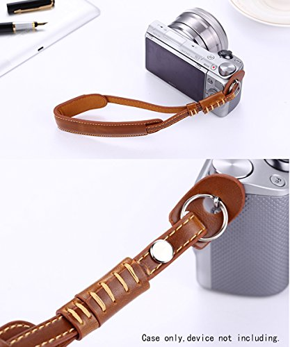 Alltravel Leather Wrist Strap for Camera, DSLR Camera, Featured Design, Safety use, Best Matching with Your Lovely Camera