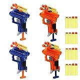 4 Pack Mini Foam Dart Toy Guns Foam Guns,Blaster Gun Toy with 16 Small Size Foam Darts(Not Standard Size), Great Sport Party Favors Spring Powered Gun Kit (4 Pack Foam Guns with 16 Small Size Darts)