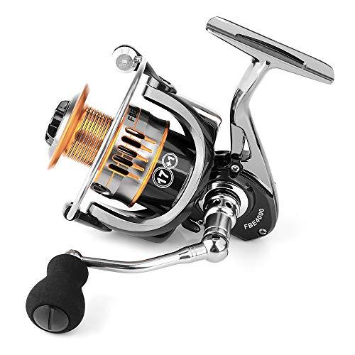Rcharlance, mulinello da pesca da 17+1BB, corpo in metallo e mulinello da pesca a filatura rapida con manico in metallo intercambiabile sinistra/destra (FBE6000)