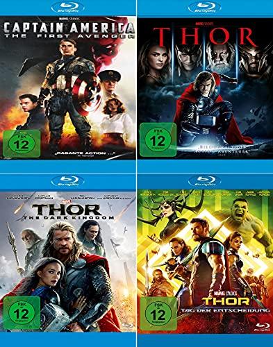 Marvel Studios Bundle - Thor + Dark Kingdom + Tag der Entscheidung + Captain America: First Avenger [4-Blu-ray]