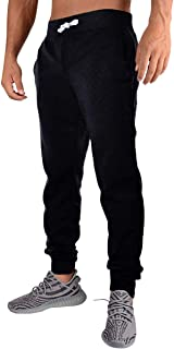 Men's Casual Jogger Sweatpants Basic Fleece Jogger Pant Elastic Waist