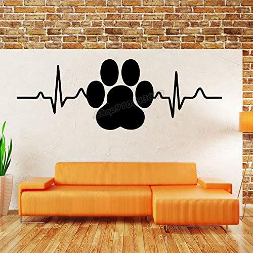 Zdklfm69 Adhesivos Pared Pegatinas de Pared Arte Animal Decoración de la habitación Huellas de Perros y Animales para salón de Mascotas Decoración Interior del hogar Diseño Murales 76x31cm