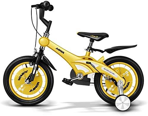 TQJ Cochecito de Bebe Ligero Bicicleta for niños Conveniente, niña de 3-6 años de Edad Bicicleta for niños Bicicleta de 14 Pulgadas Cochecito de bebé Bicicleta de montaña cómoda