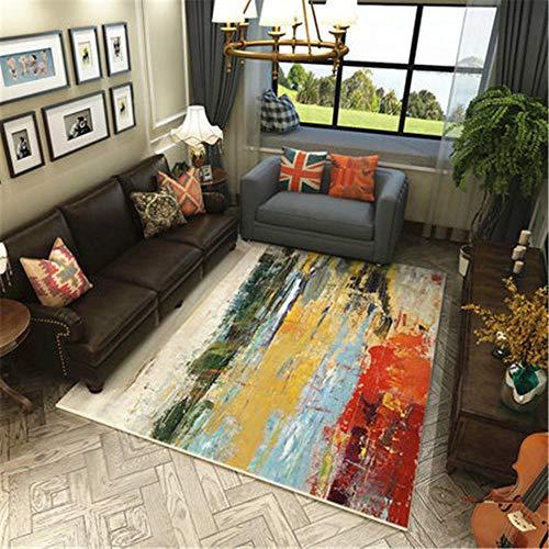 RUGMYW Alfombras Lavables Salon Acogedor Diseño Abstracto De Pintura De Color De...