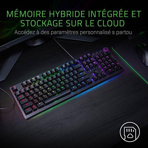 Razer Huntsman Elite (Red Switch) - Gaming Tastatur mit schnellen linear opto-mechanischen Schaltern (Drehregler, beleuchteter Handballenablage, RGB Chroma) QWERTY | US-Layout, Schwarz