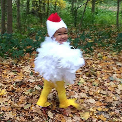 Huhn-Kostüm Kinder Huhn - Süßes Tier Hühnerkostüm mit echten Federn für Kleinkinder; Größe XS für 2-4 Jahre