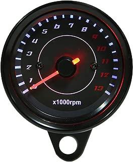 Tachometer Gauge,Motorcycle Tachometer Universal Motorcycle Tach Meter Gauge with Aluminum Housing LED Backlight, 12V