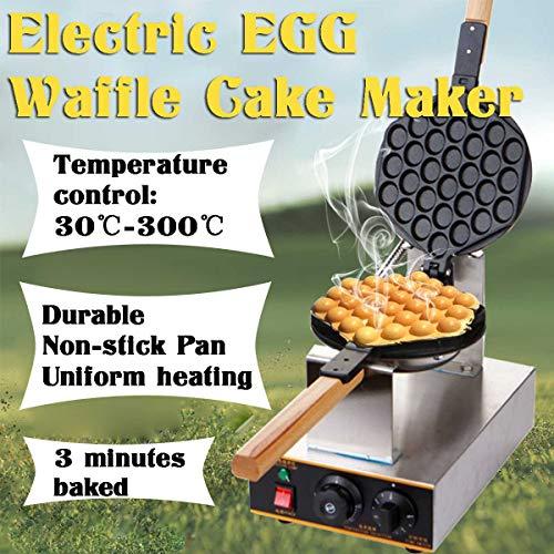 YIHGJJYP Gaufrier Bubble antiadhésifs Commercial électrique Cornet de crème glacée Croustillant Faire Machine Egg gâteau Eggettes Four