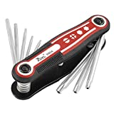 uxcell Folding Hollow End Security Torx Star Key Wrench Set Repair Tool