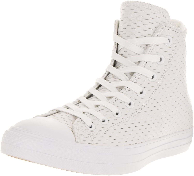 Converse Unisex Chuck Taylor All Star Hi White White Basketball shoes 12 Men US