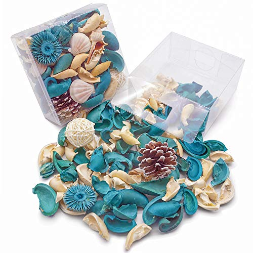 DomeStar Sea Shell Potpourri Bag, Fresh Ocean Scent Sea Shell Conch and Rattan Ball Sachets Decorative Spring Fragrance Bowl Filler and Vase Filler