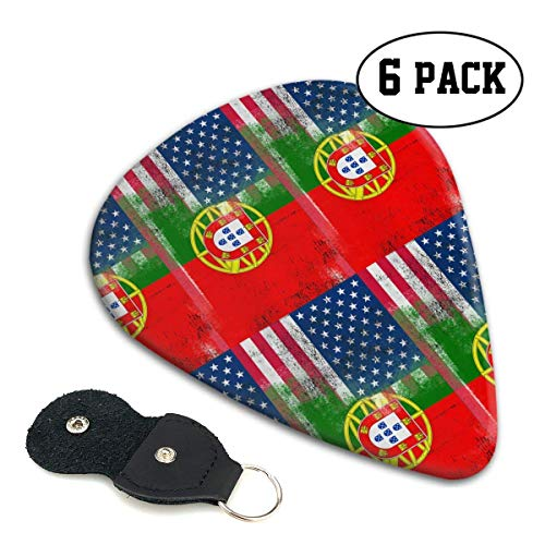 Portugiesische amerikanische Flagge stilvolle bunte Celluloid-Gitarren-Picks