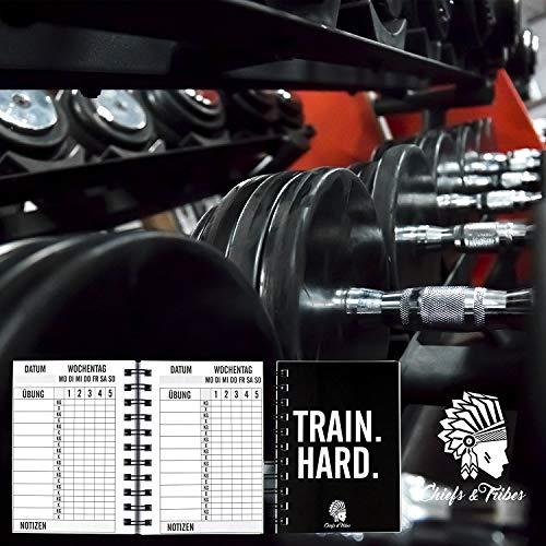 Chiefs & Tribes® Trainingstagebuch für Krafttraining, Fitness Studio, Bodybuilding & Cardio / 200 Seiten / Robust & praktisch für das Gym / DIN A6 - 3