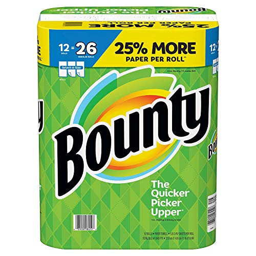 Bounty Select-a-Size Paper Towels, White, 12 Huge Rolls = 26 Regular Rolls