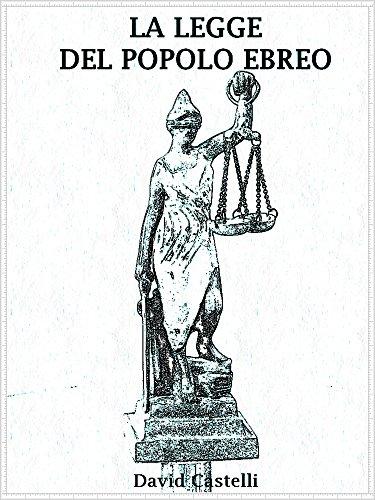 La legge del popolo Ebreo (Italian Edition)