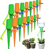 QIEP 6 unids auto sistema de riego por goteo automático Spike jardín plantas flor interior exterior Waterers botella gotero