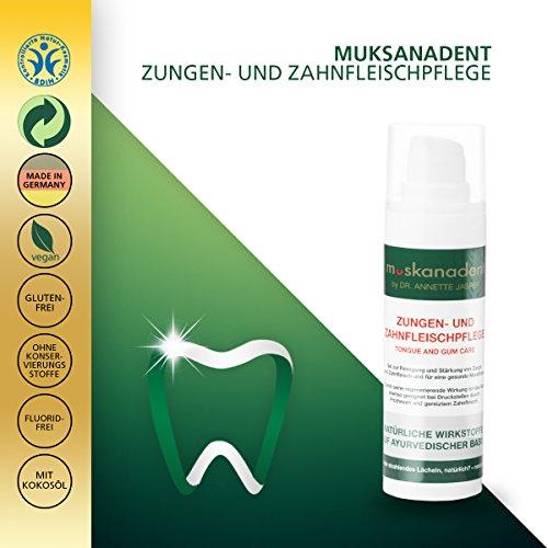 Premium Mund-Hygiene von Muskanadent | Dental-Hygiene Gel für Zunge und Zahnfleisch | Mit Salbei, Melisse, Neemöl und Nelkenöl, Pfefferminz | Ayurveda Naturkosmetik gegen Aphten | Vegan | 30 ml - 4