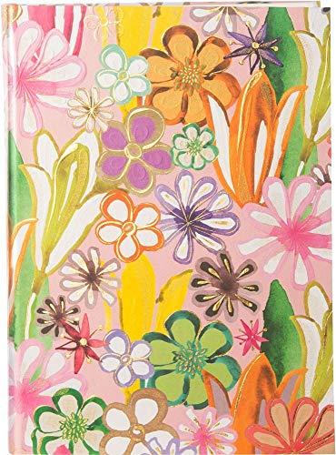 goldbuch 64220 Notizbuch DIN A5 Aqua Flowers im Turnowsky Design, Kladde mit 200 Creme Seiten, Papier blanko, fadengeheftet mit Kunstdruckpapier Einband, Goldprägung und Lesezeichen, ca. 15 x 22 cm