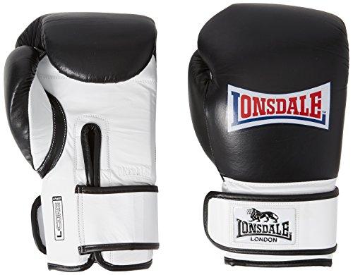 Lonsdale Erwachsene L-core Tasche-handschuh, schwarz/Weiß, S/M