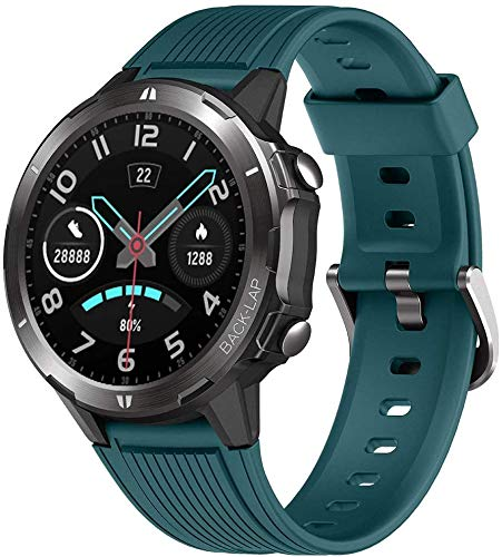KUNGIX Smartwatch, Sportuhr Voller Touchscreen Fitnessuhr Fitness Tracker Armband 5ATM Wasserdicht Smart Watch Mit Pulsuhr Schlafmonitor Stoppuhr Für Damen Herren iOS Android Kompatibel