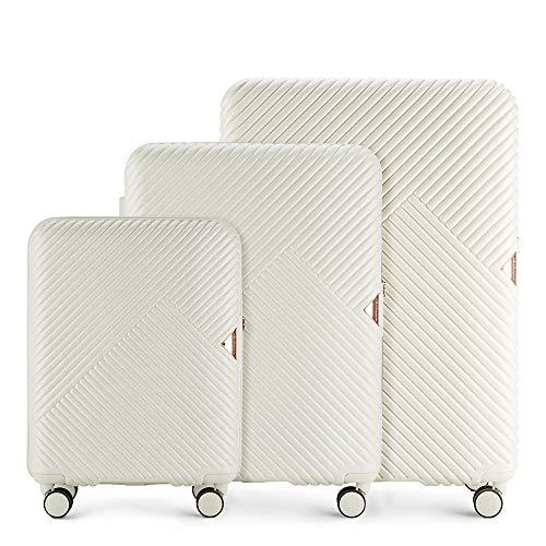 WITTCHEN Koffer – Set of 3 | hartschalen, Material: polycarbonat | hochwertiger und Stabiler | Weiß | Verschiedene Größen