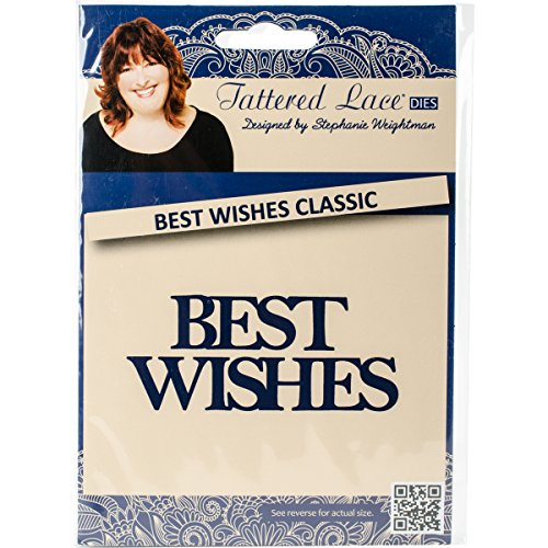 Create and Craft Create and Craft Tattered Lace Metallschablone Best Wishes Classic