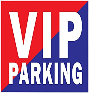 Fusion Vip Parking in Red-Blue Car Safety Decal Sticker